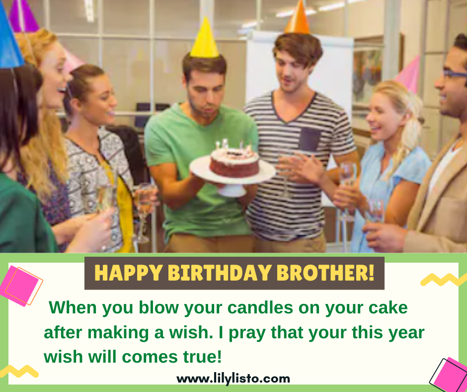 birthday wishes and prayers for brother