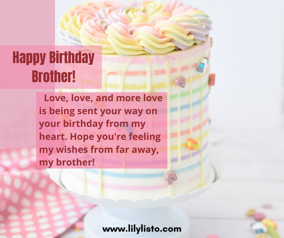 birthday messages for far away bro