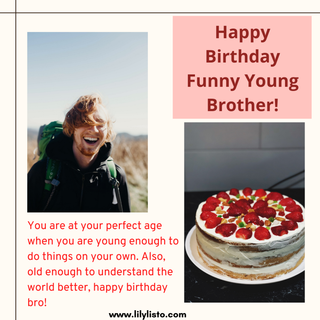 birthday wishes for younger brother funny
