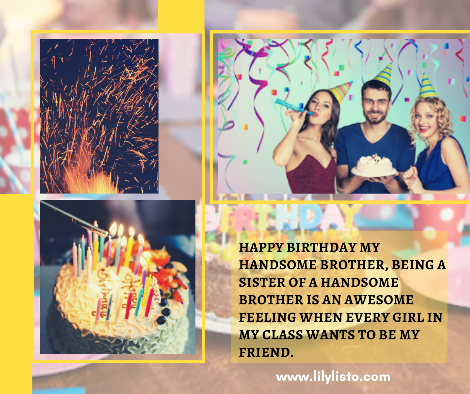 birthday wishes to brother from sister images