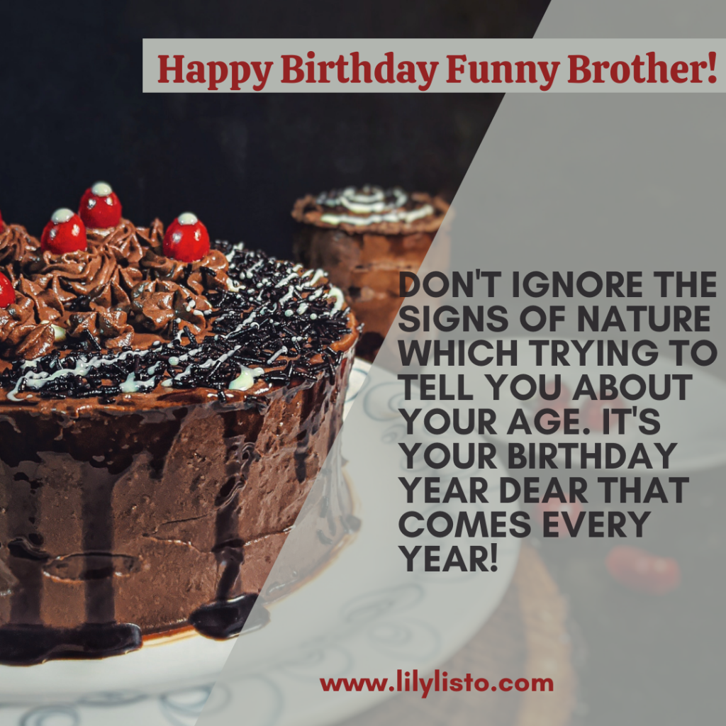 birthday wishes to younger brother funny