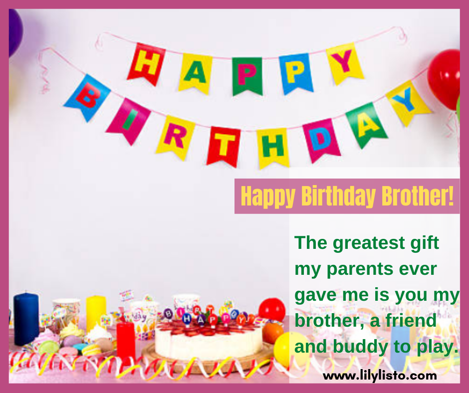 caption images for brother birthday