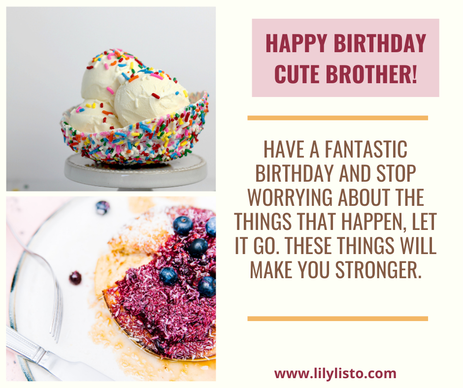 cute messages for brother birthday