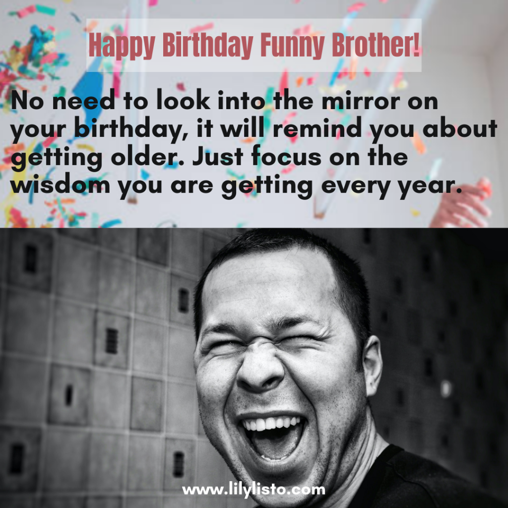 funny 18th birthday wishes for brother