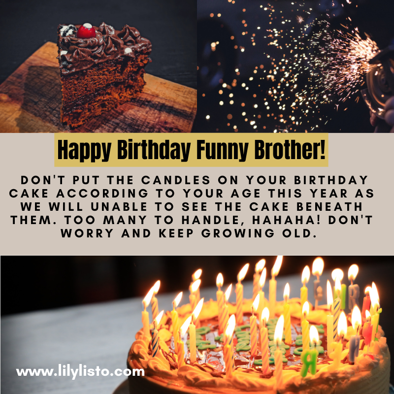 funny messages images for bro bday