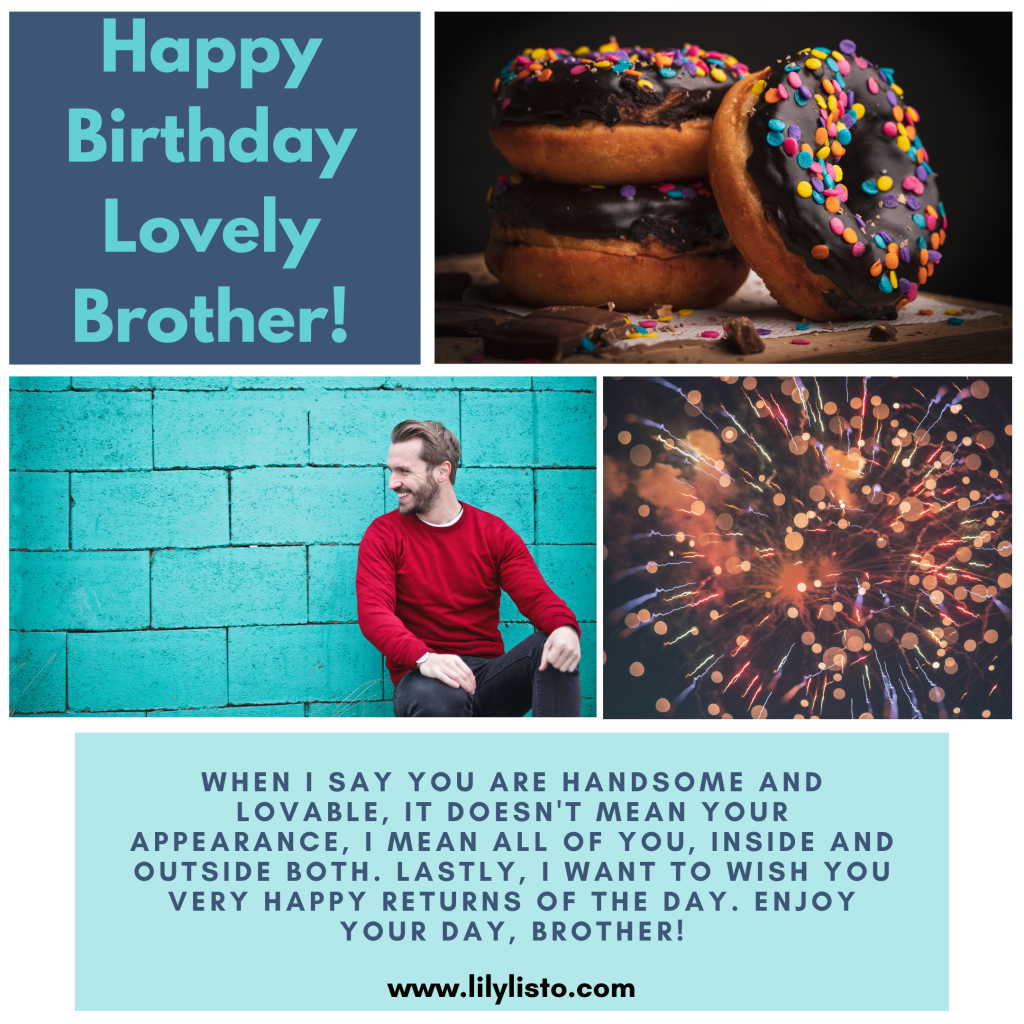 lovely birthday wishes for big brother